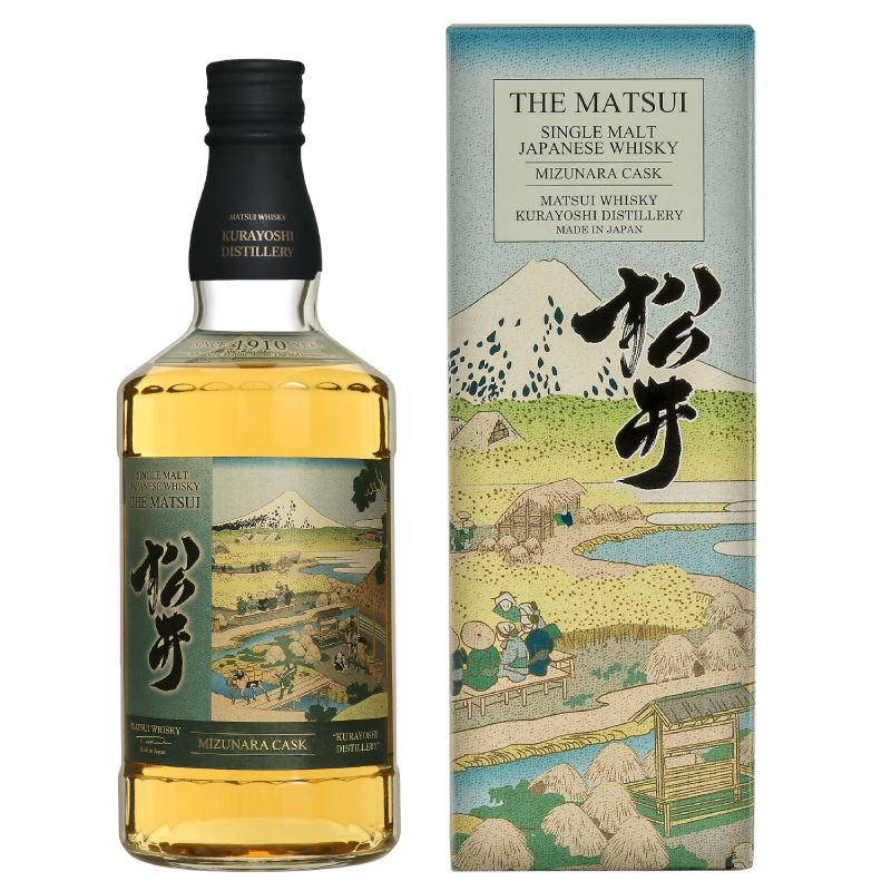 Matsui single malt whisky「Matsui Mizunara Limited design bottles for Duty-Free Shops」