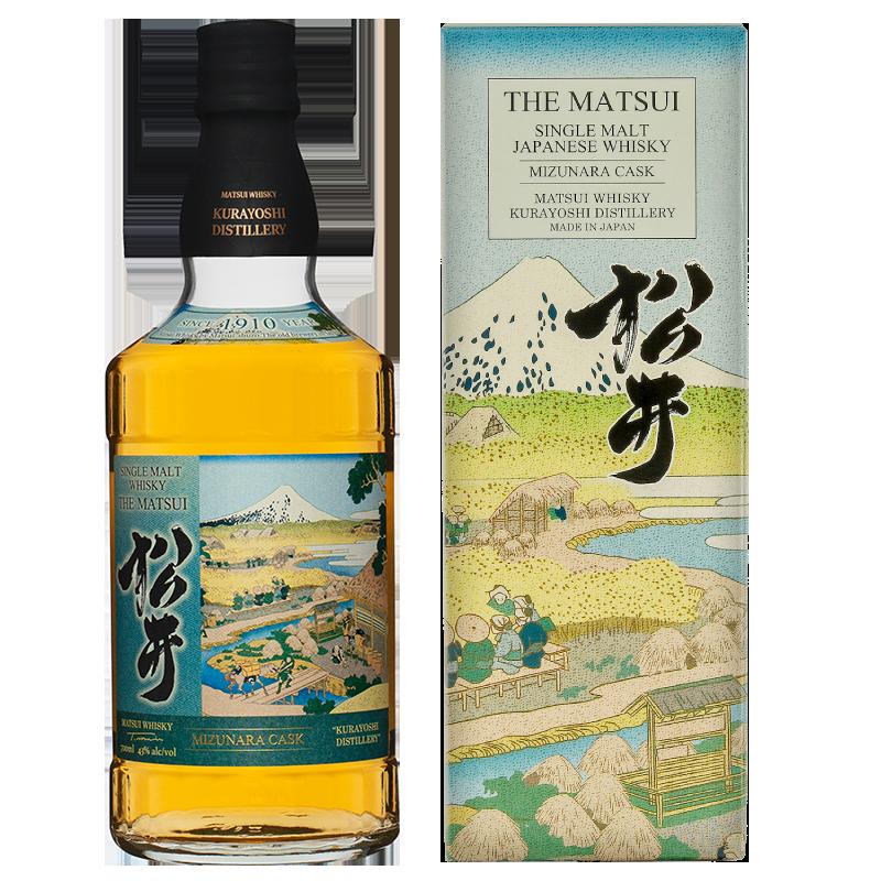 Matsui single malt whisky「Matsui Mizunara Limited design bottles for Duty-Free Shops」