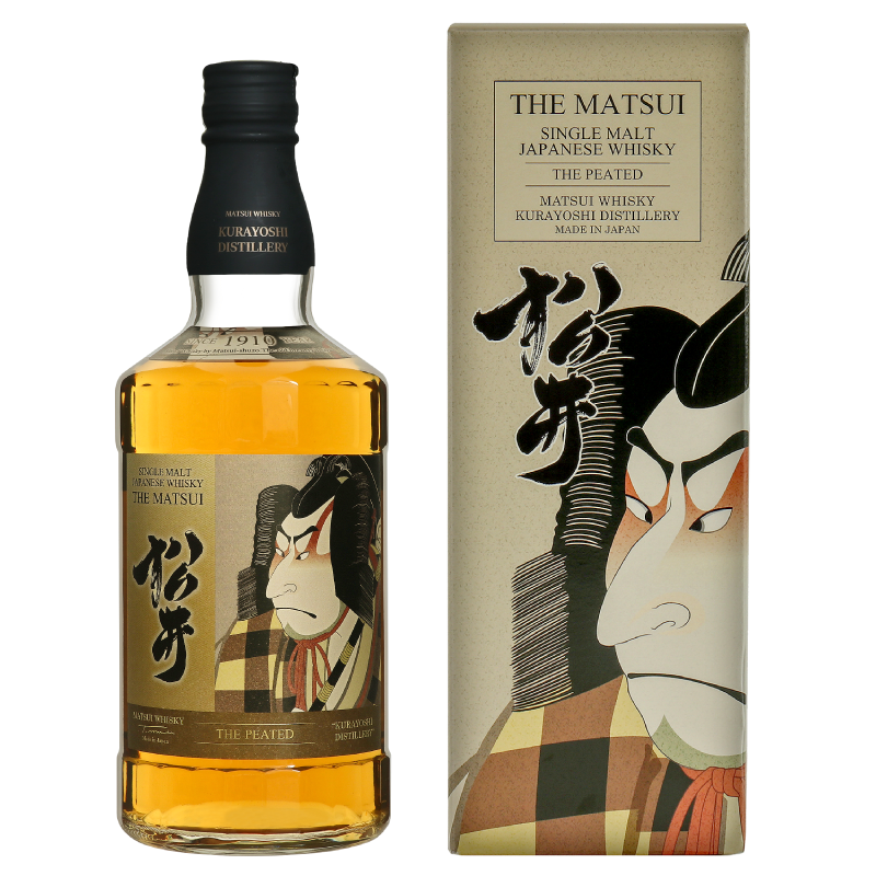 Matsui single malt whisky「Matsui Peated Limited design bottles for Duty-Free Shops」