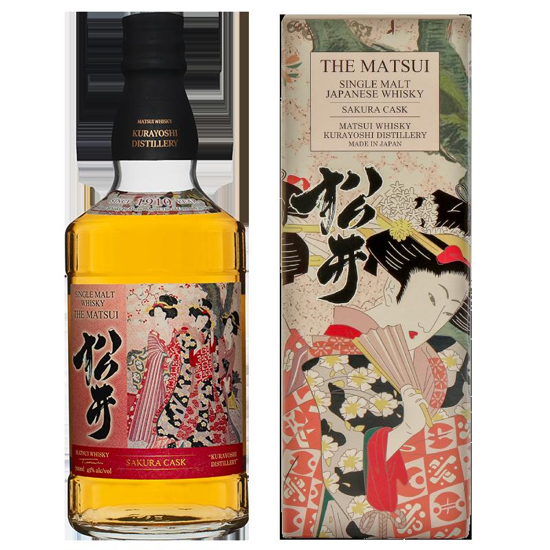 Matsui single malt whisky「Matsui Sakura Cask Limited design bottles for Duty-Free Shops」