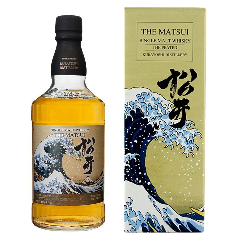 Matsui single malt whisky「Matsui Peated Limited design bottles for Overseas」