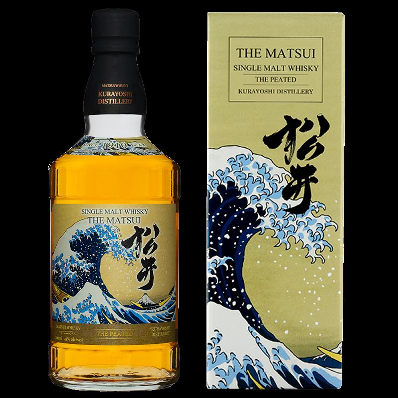 マツイシングルモルトウィスキー「松井 ピーテッド 海外限定デザインボトル」