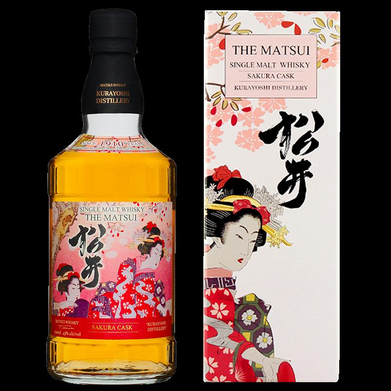 Matsui single malt whisky「Matsui Sakura Cask Limited design bottles for Overseas」