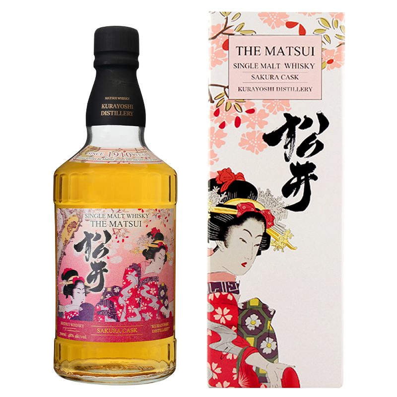 Matsui single malt whisky「Matsui Sakura Cask Limited design bottles for Overseas」