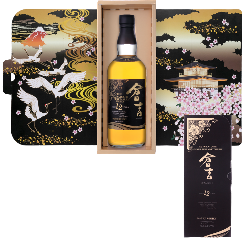 Matsui pure malt whisky「Kurayoshi 12Years Limited design bottles for Duty-Free Shops」