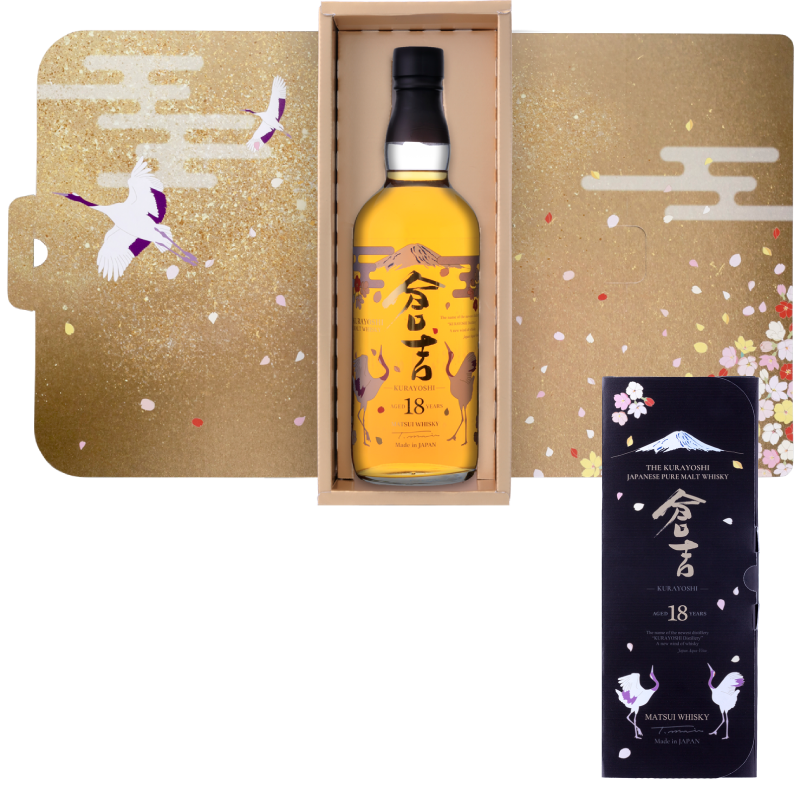Matsui pure malt whisky「Kurayoshi 18Years Limited design bottles for Duty-Free Shops」