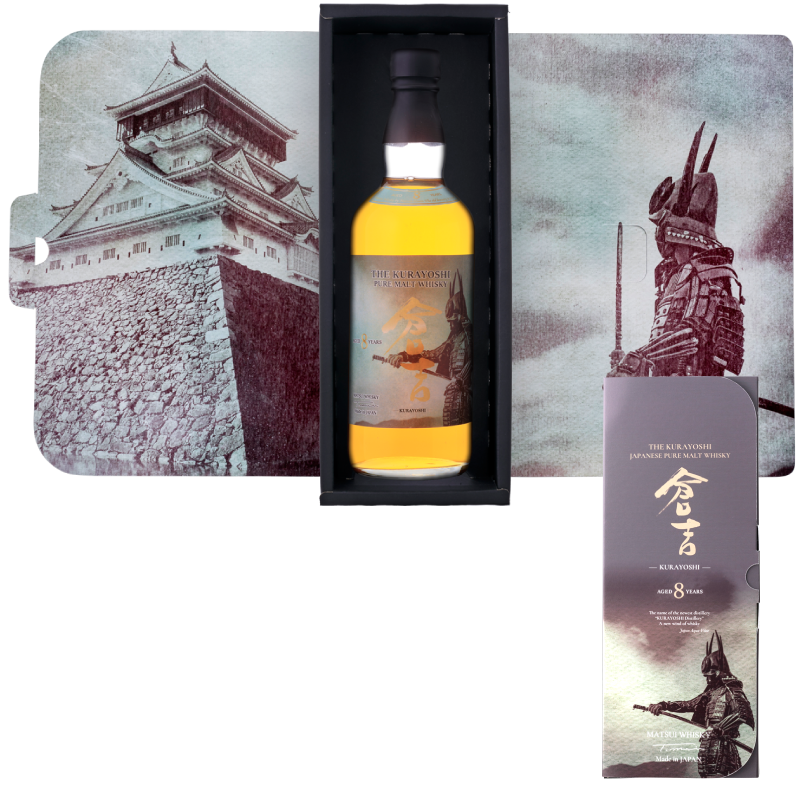 Matsui pure malt whisky「Kurayoshi 8Years Limited design bottles for Duty-Free Shops」