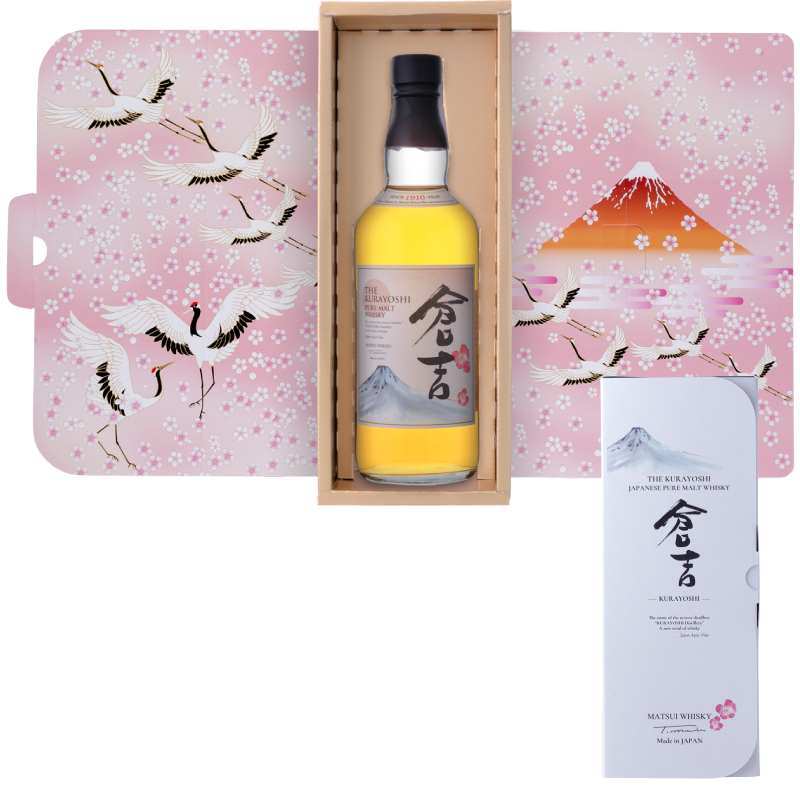 Matsui pure malt whisky「Kurayoshi Limited design bottles for Duty-Free Shops」